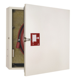 Fire Hose Reel in insulated/heated Cabinet - Indoors