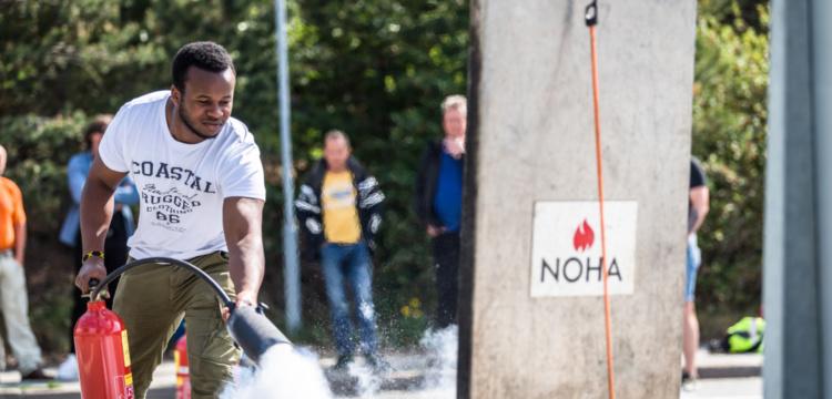 Brannkurs for Nordens største på asfalt og stein