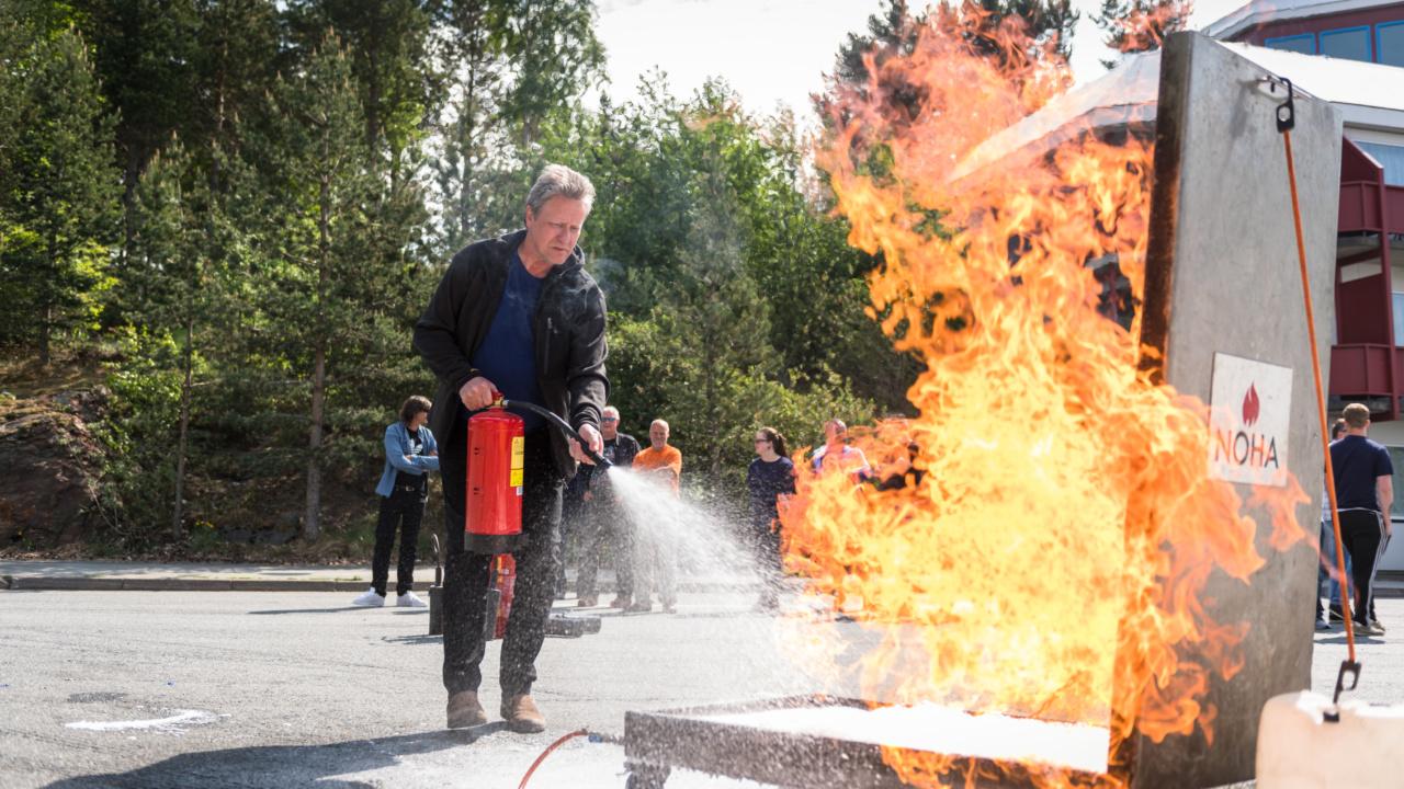 Brannkurs for Nordens største på asfalt og stein 7