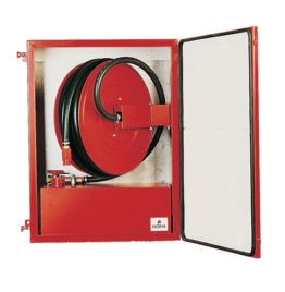 Fire Hose Reel with fixed foam tank in heated cabinet