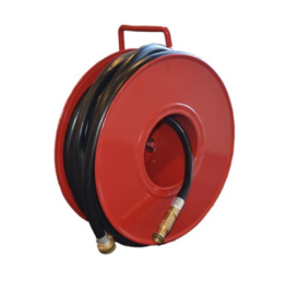 Hose reel for private homes