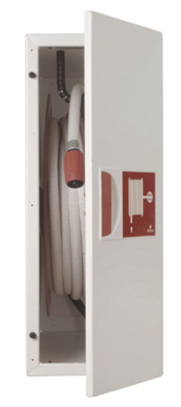 Fire Hose Reel in Cabinet - limited wall-space