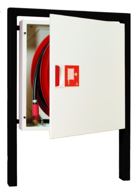 Fire Hose Reel in Cabinet - Free-standing