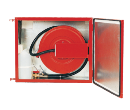 Fire Hose Reel with foam tank in heated cabinet