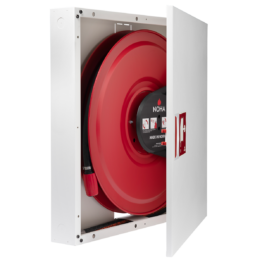 Fire Hose Reel in Cabinet with Automatic Valve